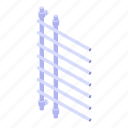 rail, device, isometric, cartoon, towel, heated, logo icon