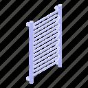 rail, isometric, cartoon, towel, system, heated, water icon