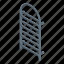 rail, beach, isometric, cloth, towel, heated, cartoon icon