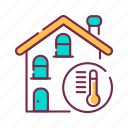 device, heating, house, system, warmth icon