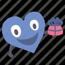 boy, gift, heart, giving, valentine, present, happy icon