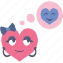 boy, girl, heart, love, think, thinking, valentine icon