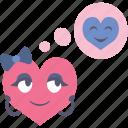 boy, girl, heart, love, think, thinking, valentine