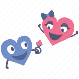 gift, giving, happy, hearts, present, ring, valentines icon