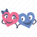 hands, happy, hearts, hold, holding, together, valentines icon