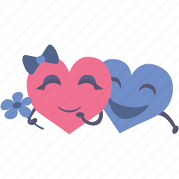 flower, happy, hearts, hugs, together, valentines icon