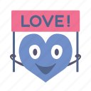 banner, boy, happy, heart, love, valentine icon