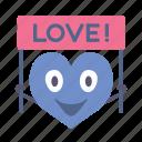 banner, boy, happy, heart, love, valentine