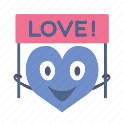 banner, boy, happy, heart, love, valentine icon