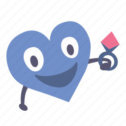 boy, gift, giving, heart, ring, valentine icon