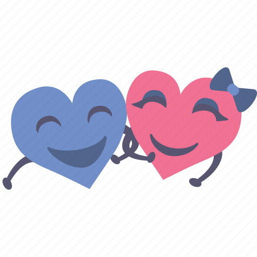 couple, hands, happy, hearts, holding, love, together icon