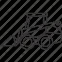 equipment, heavy, heavyequipment, loader, skid, steer, vehicle icon