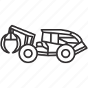 equipment, heavy, heavyequipment, mine, mining, skidder, vehicle icon