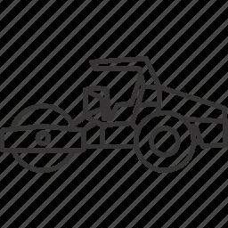 equipment, heavy, heavyequipment, mining, roller, tridum, vehicle icon