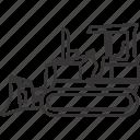 bulldozer, dozer, equipment, heavy, heavyequipment, mining, vehicle icon