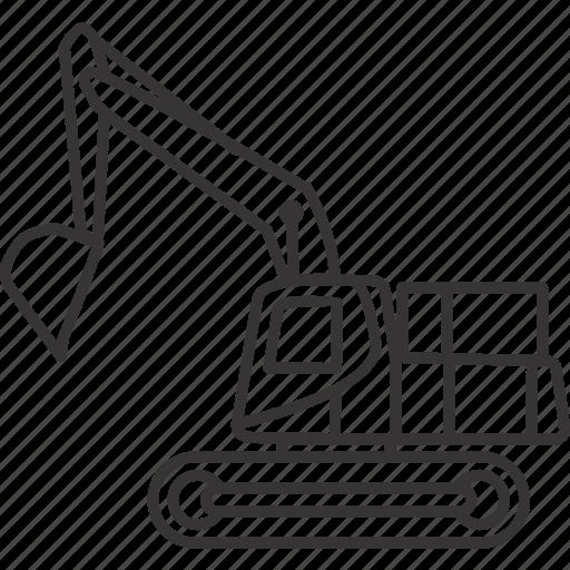 equipment, excavator, heavy, heavyequipment, mine, mining, vehicle icon