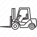 equipment, forklift, heavy, heavyequipment, mine, mining, vehicle icon