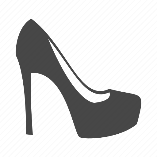 heel, high, lady, shoes, shop, skirt icon