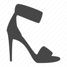 dress, heel, high, lady, shoes, shop icon