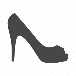 heel, high, lady, shoes, shop, shopping, skrit icon