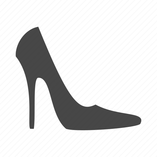 dress, heel, high, shoes, shop, shopping, woman icon