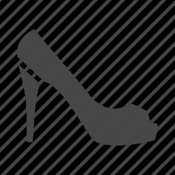 dress, heel, high, shoes, shop, shopping, women icon