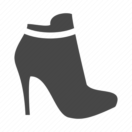 boots, dress, heel, high, shoes, shop icon