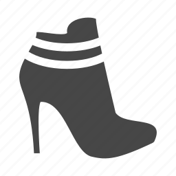 dress, heel, high, shoes, shop icon