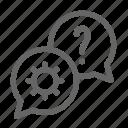 bubble, conversation, help, information, question, service, support