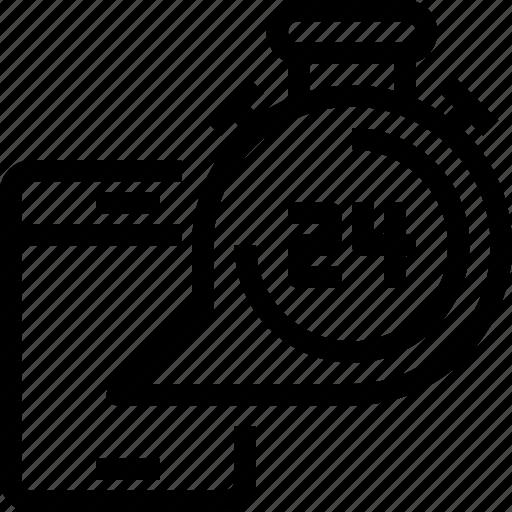 24hr, business, customer, help, information, service, support icon