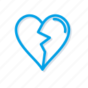 broken, heart, love