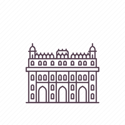 bara, complex, imambara, india, landmark, lucknow, structure icon