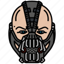 bane, dc, face, mask, villain icon