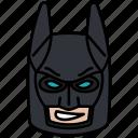 batman, cowl, dc, mask, minifigure, toy icon