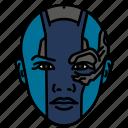 humanoid, marvel, mcu, nebula, woman icon