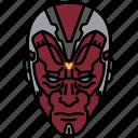 a.i., marvel, vision, droid, mcu icon