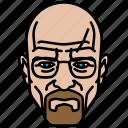 breaking bad, heisenberg, man, old, walter white icon