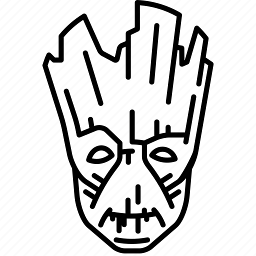Groot, marvel, tree, guardian icon - Download on Iconfinder