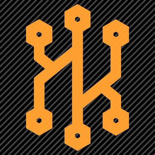 board, circuit, digital, electronics, processing, processor, technology icon