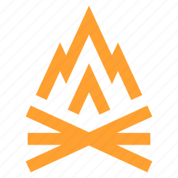 camp, fire, firewood, heat, outdoors, survival, wood icon