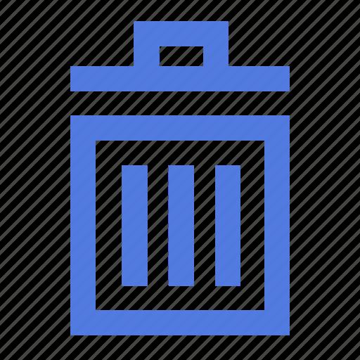 bin, can, delete, garbage, litter, remove, trash icon