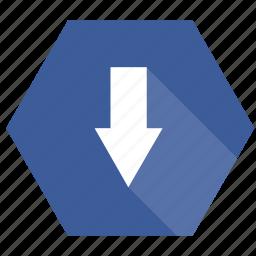 document, down, downloads, file, folder, paper icon