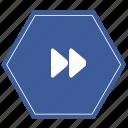 forwardarrow, media, radio, right icon