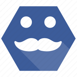 emoji, guy, men, mustache, smile icon