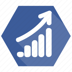 analysis, currency, financial, graph, progress, static icon