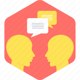 chat, communication, conversation, discussion, message, talk, talking icon