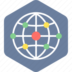 connection, global, network, web, wireless icon