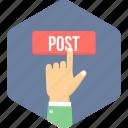 post, direction, pointer, send