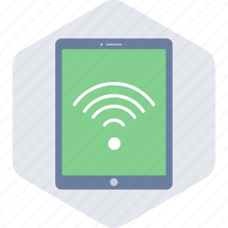 connection, internet, network, signal, tablet, wifi, wireless icon