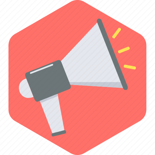 alert, attention, broadcast, communication, loud, megafone, megaphone icon